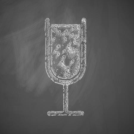 spirituous beverages: cocktail icon Illustration