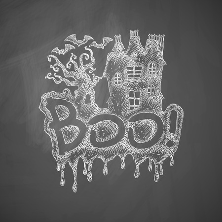 monsters house: boo icon Illustration