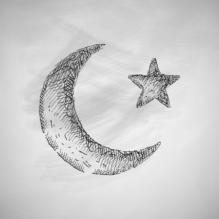 islamic prayer: moon icon