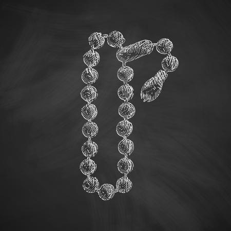rosary: rosary icon Illustration