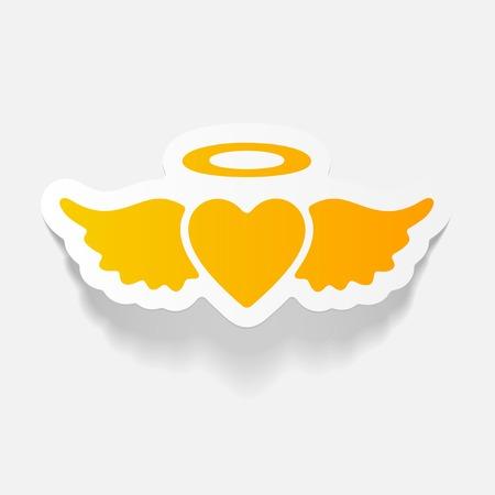 infatuation: realistic design element: heart angel