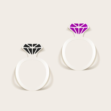 office romance: realistic design element: ring Illustration