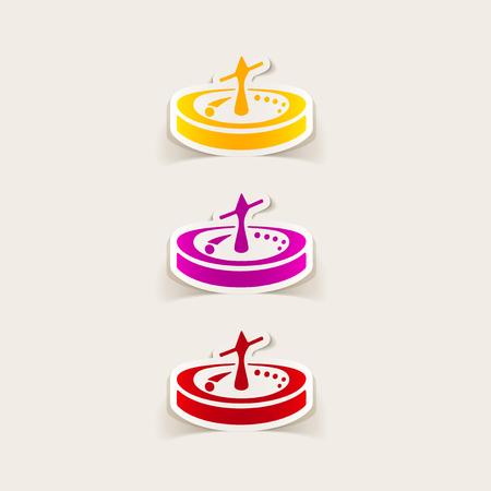 rotates: realistic design element: roulette Stock Photo