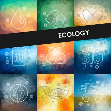 ozone: ecology timeline presentations with blurred unfocused background