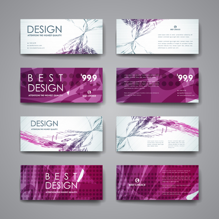 web design banner: Set of modern design banner template in abstract background style. Beautiful design and layout Illustration