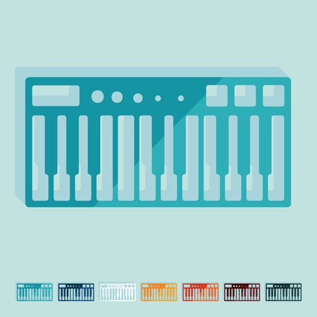 synthesizer: Flat design: synthesizer