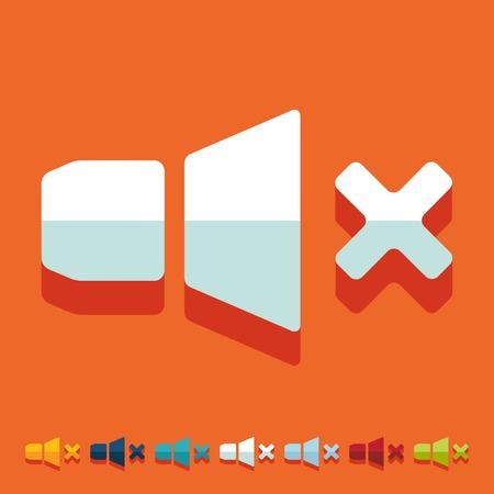 decibel: Flat design: sound off Illustration