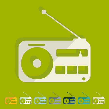 airwaves: Flat design: radio