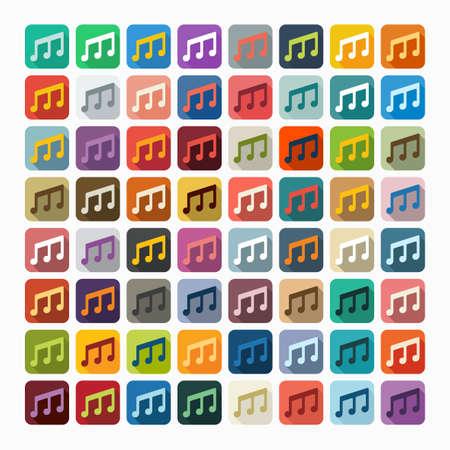 Flat design: musical note Ilustração Vetorial