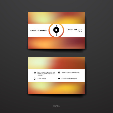 Set of business card template in chinese new year style beautiful set of business card template in chinese new year style beautiful design and layout stock colourmoves