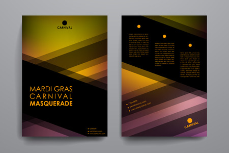 carnivale: Set of brochure, poster templates in Mardi Gras style. Beautiful design and layout