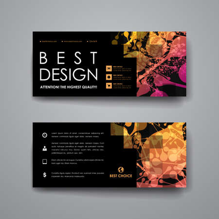 macromolecule: Set of modern design banner template in DNA molecule style. Beautiful design and layout