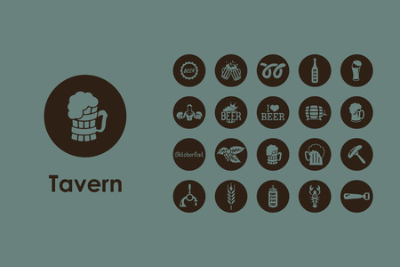 It is a set of beer simple web icons Illustration