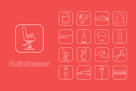 styler: It is a set of hairdresser simple web icons