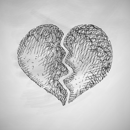 gebrochenes Herz-Symbol Vektorgrafik
