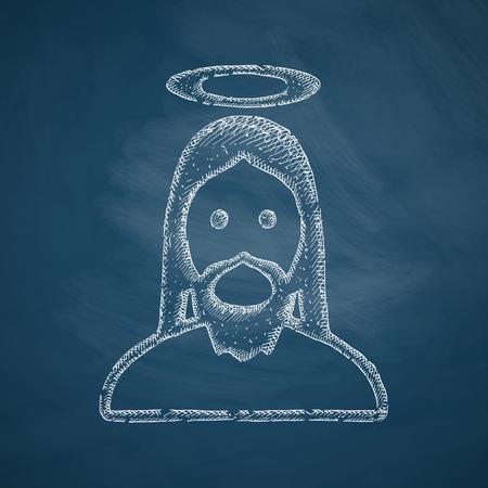 cross hatching: jesus icon