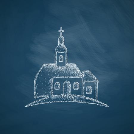 cross hatching: church icon