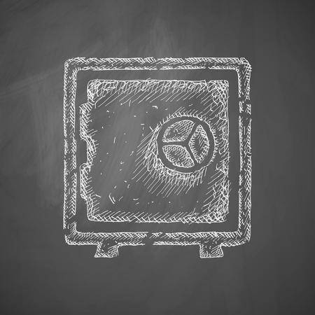 secret codes: safe icon Illustration