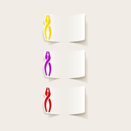 alicates: realista elemento de diseño: Alicates