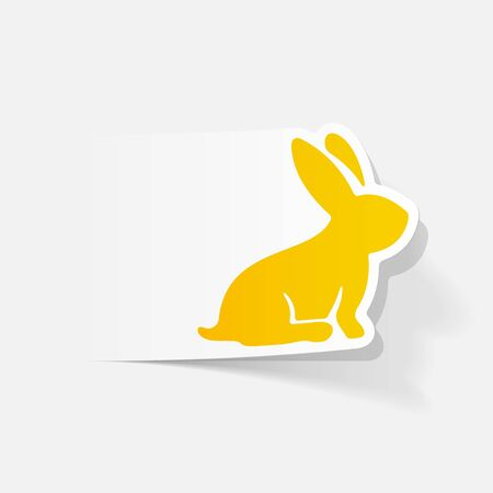 patience: realistic design element: easter rabbit