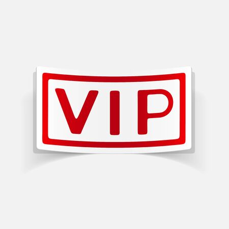 and element: realistic design element: vip
