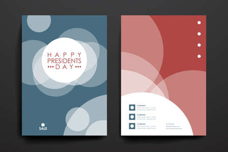 broshure: Set of brochure, poster templates in Presidents Day style. Beautiful design and layout