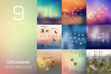 organisms: organisms vector infographics with unfocused blurred background Illustration