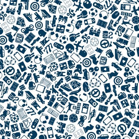 vector achtergrond van de flat gaming iconen Vector Illustratie