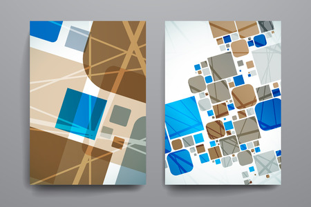 broshure: Set of brochure, poster templates in abstract background style. Beautiful design