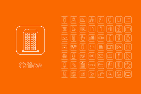 color: It is a set of office simple web icons