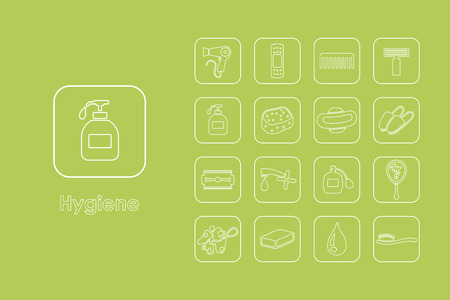 It is a set of hygiene simple web icons