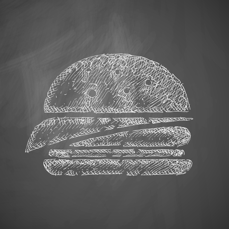old fashioned vegetables: sandwich icon Illustration