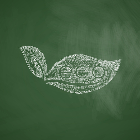 eco sign leaf icon Illustration