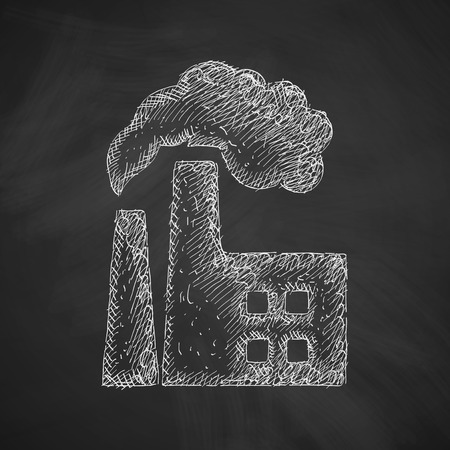 environmental analysis: factory pipes icon Illustration