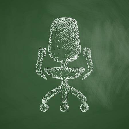 office chair: office chair icon Illustration