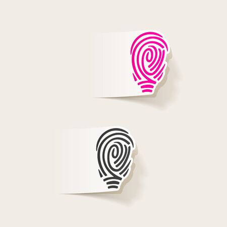 soleness: realistic design element: fingerprint