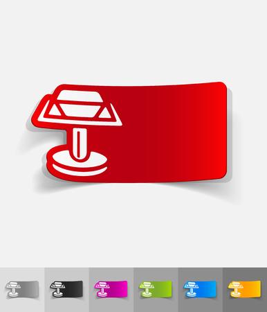 cufflink: cufflink paper sticker with shadow. Vector illustration