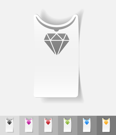 pendant: pendant paper sticker with shadow. Vector illustration