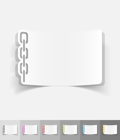 chainlet: chainlet paper sticker with shadow. Vector illustration