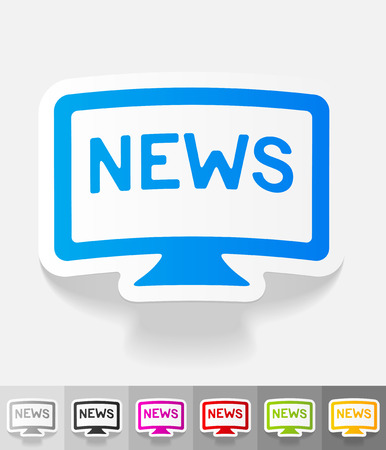 news paper: news paper sticker with shadow. Vector illustration