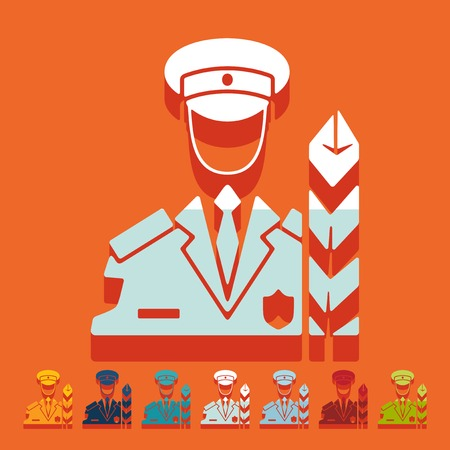 professionalism: Flat design: customs inspector Illustration