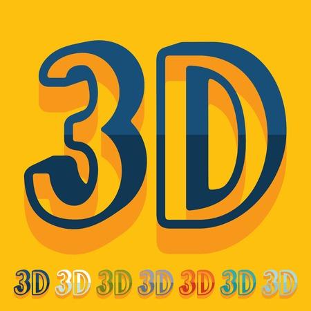 coordination: Flat design: 3D