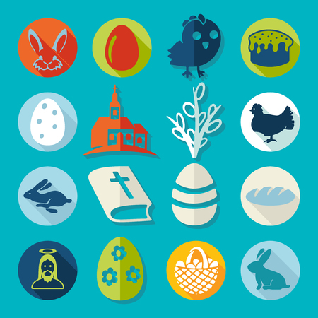 church group: Set of easter icons