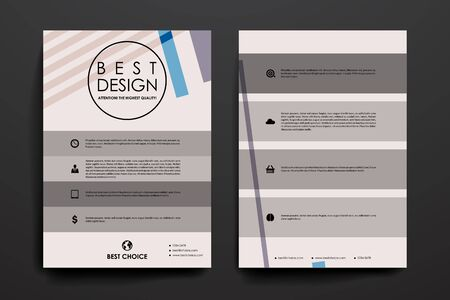 Set of brochure, poster templates in abstract background style. Beautiful design