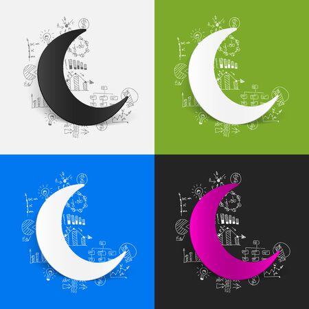 islamic prayer: Drawing business formulas: moon
