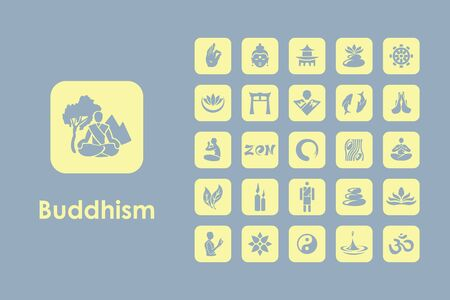 buddhist: It is a set of buddhism simple web icons