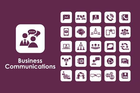 Il est un ensemble de communications d'affaires icônes Web simples