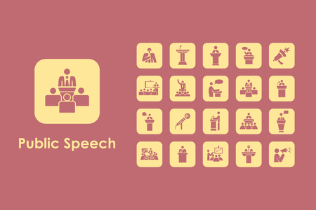 congress center: It is a set of public speech simple web icons