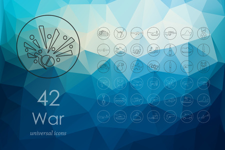 warhead: war modern icons for mobile interface on blurred background