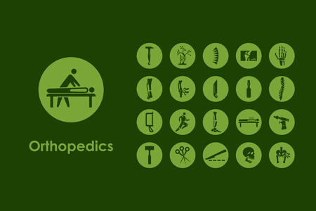 orthopedics: It is a set of orthopedics simple web icons